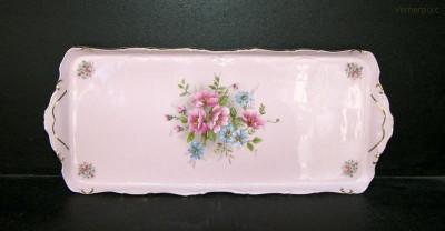 Podnos Amis 013 růžový porcelán 38cm Leander Loučky