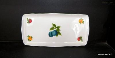 Porcelánový tác s dekorem ovoce Český porcelán