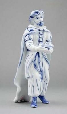 Porcelánová figurka - Král Kašpar Český porcelán