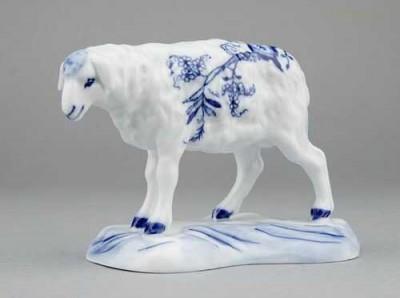 Porcelánová figurka - Ovce Český porcelán