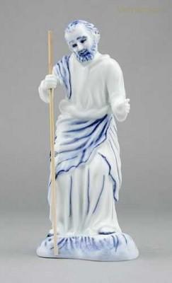 Porcelánová figurka - Svatý Josef s holí Český porcelán