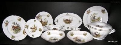 Porcelánová jídelní souprava Bernadotte myslivecká 1011 25 dílná Concordia