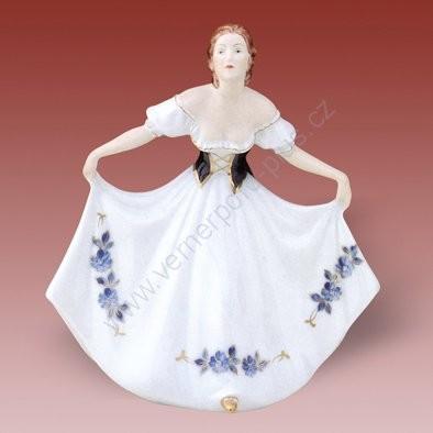 Porcelánová soška - dáma z rokoka Royal Dux Bohemia