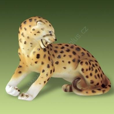 Porcelánová soška leopard Royal Dux Bohemia