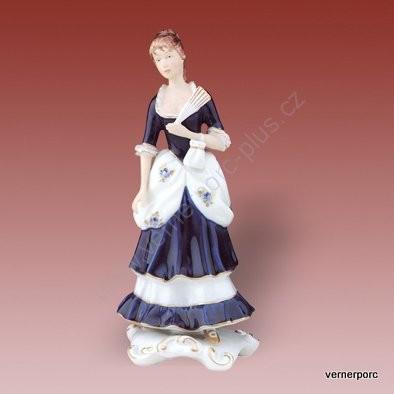 Porcelánová soška paní s vějířem Royal Dux Bohemia