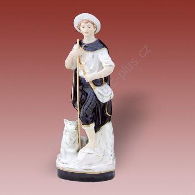 Porcelánová soška pastevce Royal Dux Bohemia