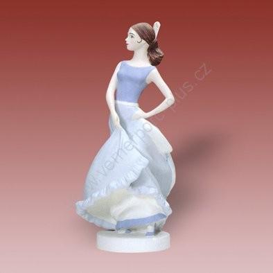 Porcelánová soška španělské tanečnice Royal Dux Bohemia