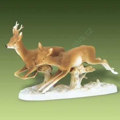Porcelánová soška srnky Royal Dux Bohemia
