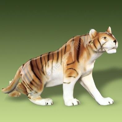 Porcelánová soška tygr Royal Dux Bohemia