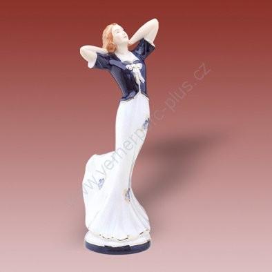 Porcelánová soška vysoké dámy Royal Dux Bohemia
