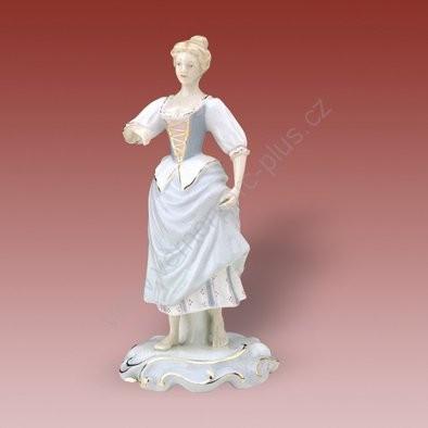 Porcelánová soška zahradnice s velkou sukní Royal Dux Bohemia