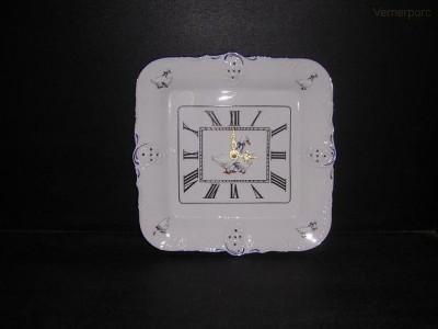 Porcelánové hodiny Diana, čtvercové 31 cm Leander Loučky