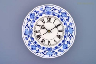 Porcelánové hodiny plné 24cm Český porcelán