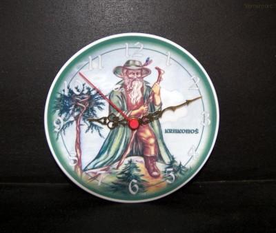 Porcelánové hodiny talířové, Krakonoš 19cm HD