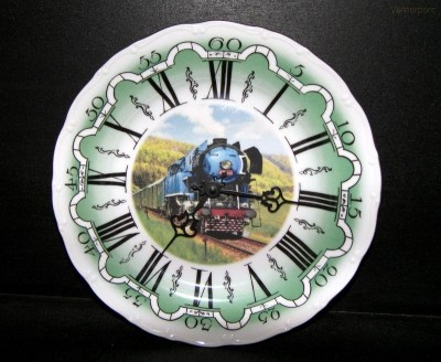 Porcelánové hodiny vlak5 25cm ZD