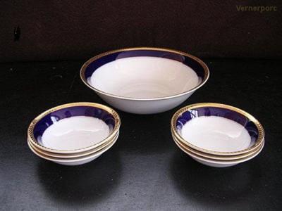 Porcelánové misky na kompot Sabina 767 7d. Leander Loučky