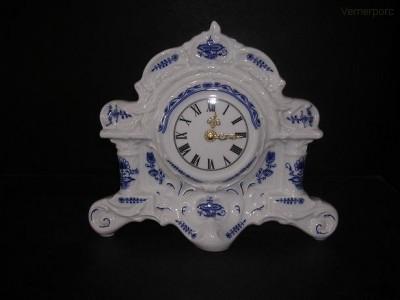 Porcelánové sloupové hodiny 25 cm Leander Loučky
