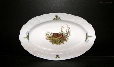 Porcelánový talíř oválný, Bernadotte 36 cm ZD