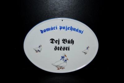 Požehnání, porcelán husy, 20cm Český porcelán