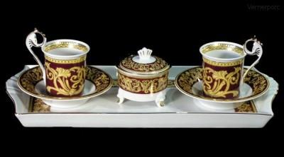 Přátelská souprava Míšeň 503 z malovaného porcelánu Leander Loučky