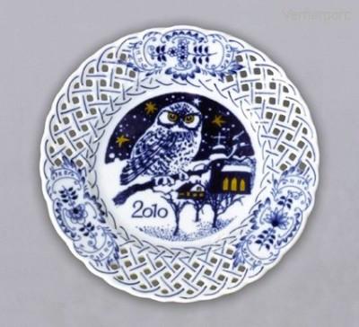 Prořezávaný dezertní talíř, výroční 2010 Český porcelán