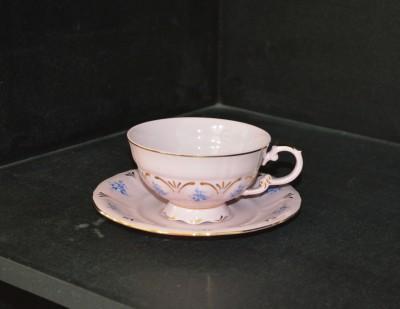 Růžový šálek s podšálkem čajový 0,2l. Sonáta 009 Leander Loučky