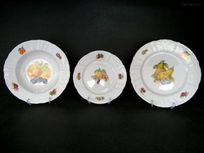 Sada porcelánových talířů Bernadotte, ovoce 18d. Concordia