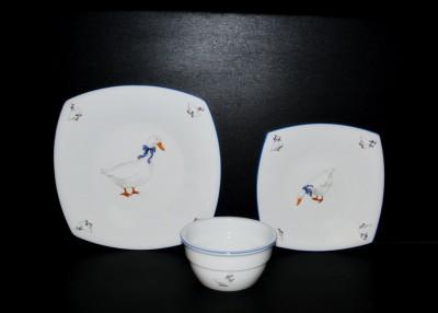 Sada talířů 18 dílná, porcelán Husa Jeremy