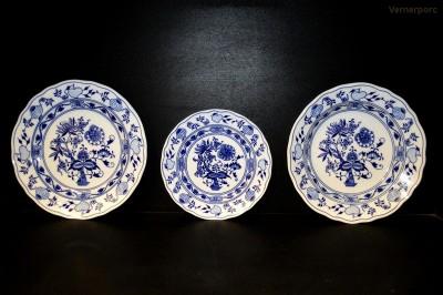 Sada talířů Cibulák original Český porcelán