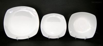 Sada talířů Gama, bílý porcelán, 18d. Moritz Zdekauer
