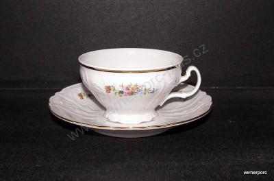 Šálek s podšálkem na čaj, Bernadotte s květinkami Concordia