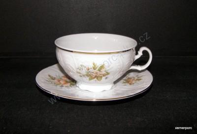 Šálek s podšálkem na čaj, Bernadotte s květem Concordia