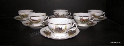 Šálek s podšálkem na čaj, Bernadotte, myslivecký Concordia