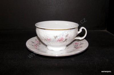 Šálek s podšálkem na čaj, Bernadotte s růží Concordia