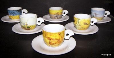 Šálek s podšálkem Dova Van Gogh mocca 6ks Thun