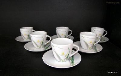 Šálek s podšálkem na čaj, Sylvie 80307 6ks Thun
