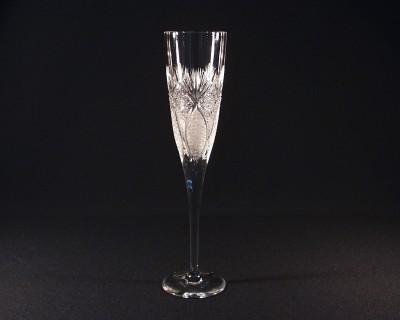 Šampaňská flétna křišťálová broušená 10259/56523/185 185ml. 6ks. Tom Crystal Bohemia