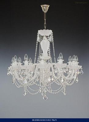 Skleněný lustr 12-ramenný 79x75cm Tom Crystal Bohemia