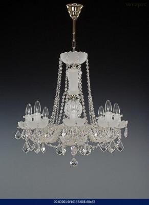 Skleněný lustr 8-ramenný 60x62cm Tom Crystal Bohemia