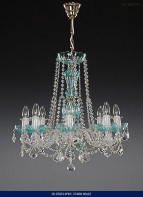Skleněný lustr color crystal 8-ramenný 60x62cm Tom Crystal Bohemia