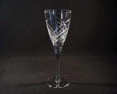 Sklenice broušená křišťál víno 270 ml. 10259/11008/270 6ks. Tom Crystal Bohemia
