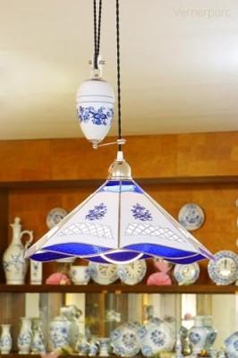 Stahovací lampa s protizávažím Český porcelán