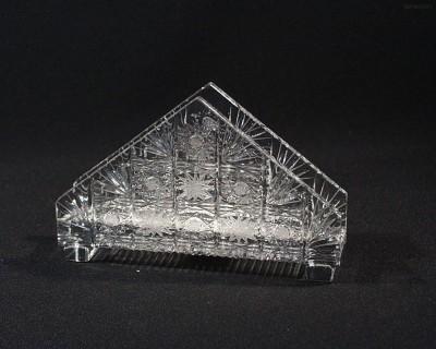 Stojánek na ubrousky křišťákový broušený 70986/57001/175  17.5cm. Tom Crystal Bohemia