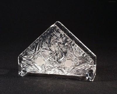 Stojánek na ubrousky křišťálový broušený 70999/26008/160  16cm. Tom Crystal Bohemia