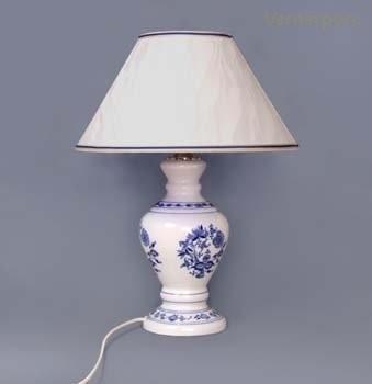 Stolní lampa - kašmírové stínítko Český porcelán