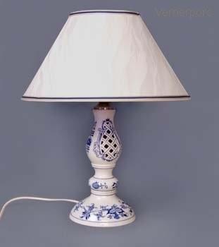 Stolní lampa prolamovaná - kašmírové stínítko Český porcelán