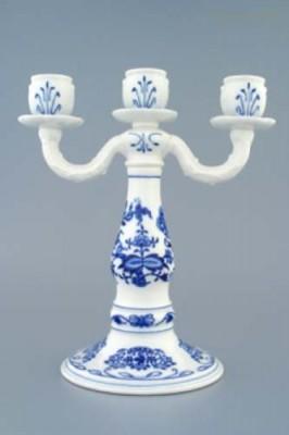 Svícen 3-ramenný Český porcelán