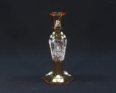 Svícen křišťálový broušený 90998/57011/195 20cm Tom Crystal Bohemia