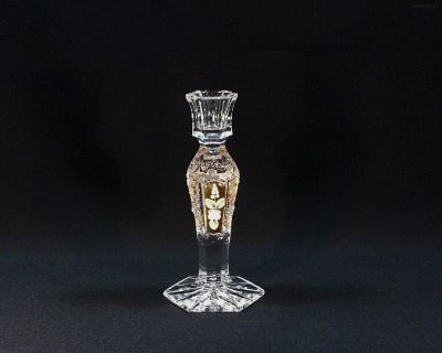 Svícen křišťálový broušený 90998/57113/195 20cm Tom Crystal Bohemia