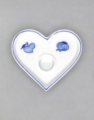 Svícen srdce Český porcelán